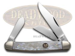 Hen & Rooster Large Stockman Knife Gray Quartz Celluloid Stainless 313-IQ