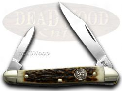 Hen & Rooster Stag Whittler Stainless Pocket Knife 332DS Knives
