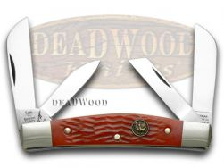 Hen & Rooster Congress Knife Red Pick Bone Stainless Pocket Knives 344-RPB