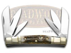 Hen & Rooster Congress Knife 6-Blade Deer Stag Stainless Pocket Knives 345-DS