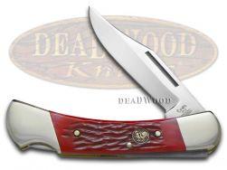 Hen & Rooster Large Lockback Knife Red Pick Bone Stainless Pocket 361-RPB
