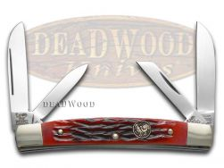 Hen & Rooster Medium Congress Knife Red Pick Bone Stainless Pocket 364-S-RPB