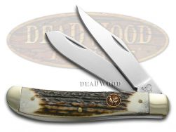 Hen & Rooster Medium Trapper Knife Deer Stag Stainless Pocket Knives 412-DS