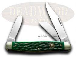 Hen & Rooster Green Pickbone Stockman Pocket Knife 413GPB Knives