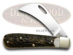 Hen & Rooster Genuine Deer Stag Hawkbill Pocket Knife 441DS Knives