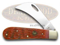 Hen & Rooster Red Pickbone Hawkbill Pocket Knife 441RPB Knives