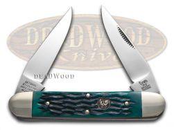 Hen & Rooster Muskrat Knife Green Pick Bone Stainless Pocket Knives 462-GPB
