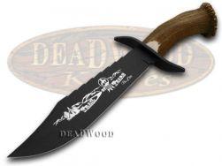 Hen & Rooster Bowie Knife Trail of Tears Deer Stag 1/500 Blackened 5000B/TT
