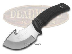 Hen & Rooster Fixed Blade Guthook Knife Non-Slip Black Rubber Stainless 5009