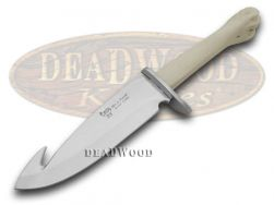 Hen & Rooster Fixed Blade Guthook Knife Deer Bone Joint Stainless 5016DBJ