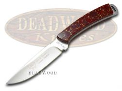 Hen & Rooster Painted Pony Fixed Blade Hunter Knife Red Matrix 1/100 5019-RD