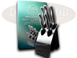 Hen & Rooster 5-Piece Kitchen Knife Set Stainless Steel Cutlery HRI-001
