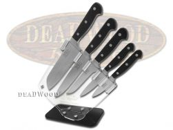 Hen & Rooster 6-Piece Kitchen Knife Set Full Tang Black Stainless HRI-026