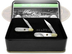 Hen & Rooster Father Daughter Barlow Knife Set Genuine Mother of Pearl 1/500