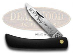 Kissing Crane Sod Buster Knife Black ABS Handle Stainless Pocket Knives KC0043BA