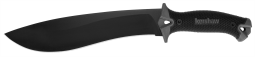 KERSHAW Camp 10 Fixed Blade Knife Gray & Black Full Tang 65Mn Carbon Steel 1077