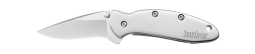 Kershaw Chive Frame Lock Knife Stainless Steel Handle 420HC Carbon Blade 1600