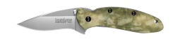Kershaw Scallion Liner Lock Knife Stalkland Camo Anodized Aluminum 420HC 1620C