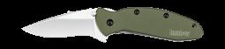 Kershaw Scallion Liner Lock Knife Olive Green Anodized Aluminum 420HC 1620OL