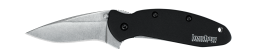Kershaw Scallion Liner Lock Knife Black Anodized Aluminum 420HC 1620SWBLK