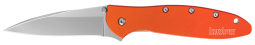 Kershaw Leek Liner Lock Knife Orange Anodized Aluminum 14C28N Stainless 1660OR