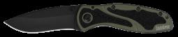 Kershaw Blur Liner Lock Knife Olive Aluminum & DLC Sandvik Stainless 1670OLBLK