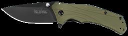 Kershaw Knockout Frame Lock Knife Olive Green Aluminum 14C28N Steel 1870OLBLK