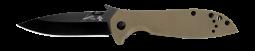 Kershaw Emerson CQC-4K Frame Lock Knife Coyote Brown G-10 & Black 6054BRNBLK