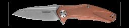 Kershaw Natrix Frame Lock Knife Solid Copper D2 Carbon Steel 7007CU Pocket Clip