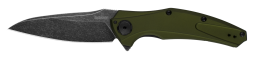 Kershaw B-Knuckle Sub-FrameLock Knife Olive Blackwash Sandvik Stainless 7777OLBW