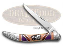 Case xx Yellowhorse Toothpick Knife Picturesque Rose Exotic Stone Handle 1/25