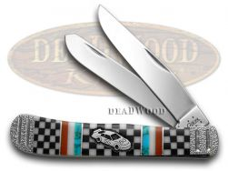 Case xx Yellowhorse Trapper Knife Winners Checker Flag 1/25 Stainless Pocket