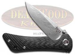 Southern Grind Spider Monkey Knife Black Carbon-fiber Damascus Steel SG06030808