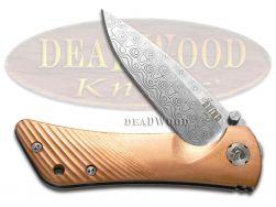 Southern Grind Spider Monkey Liner Lock Knife Copper Damascus Pocket SG06030809