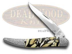 Schatt & Morgan Toothpick Knife Genuine Mammoth 1/50 Stainless Pocket