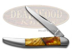 Schatt & Morgan Antique Gold and Sun Dance Corelon Toothpick Pocket Knife
