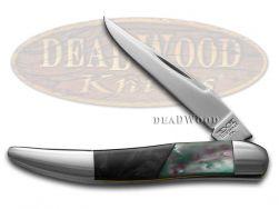 Schatt & Morgan Toothpick Knife Black Pearl & Spring Rain Stainless Pocket