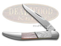 Schatt & Morgan Toothpick Knife Pink Pearl & White Pearl Stainless Pocket