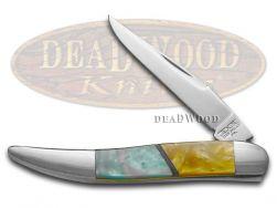 Schatt & Morgan Toothpick Knife Spring Rain & Antique Gold Stainless Pocket