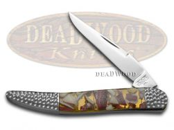Schatt & Morgan Toothpick Knife Deer Stag & Clear Resin Stainless Pocket