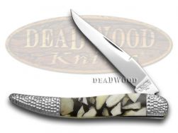 Schatt & Morgan Toothpick Knife Deer Stag & Black Pearl 1/50 Stainless Pocket