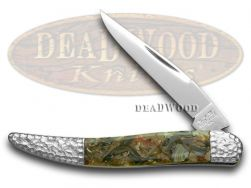 Schatt & Morgan Toothpick Knife Genuine Chipped Abalone Stainless Pocket