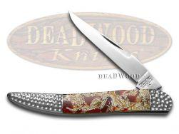 Schatt & Morgan Toothpick Knife Red Turquoise Eggshell & Resin Stainless