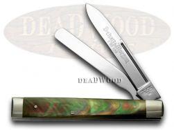 Schatt & Morgan Doctor Knife Green Black Lip Pearl 1/100 Stainless Pocket