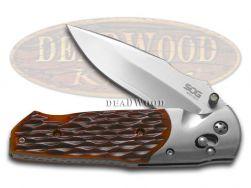 SOG A01-P Arcitech Locking Folding Hunter Knife Jigged Brown Bone San Mai VG-10