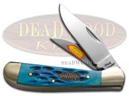 Steel Warrior Blue Pickbone Locking Copperhead Carbon Steel 104BLPB Pocket Knife