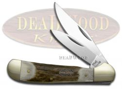 Steel Warrior Copperhead Stag Pocket Knife 106DS Knives