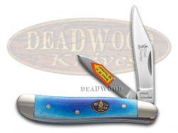 Steel Warrior Peanut Knife Smooth Blue Bone Stainless Pocket Knives SW-107BLSB