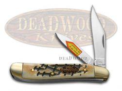 Steel Warrior Peanut Knife Butter Rum Bone Stainless Pocket Knives SW-107BR