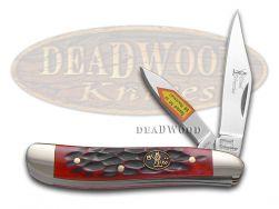 Steel Warrior Peanut Knife Jigged Dark Red Bone Stainless Pocket SW-107DRWJ